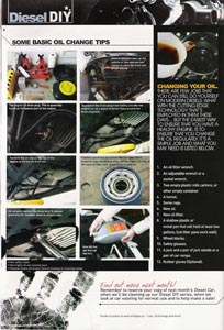 A picture of page 28 of diesel car magazine issue 210 where we are featured.